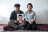 Muralu Tusypjuly and his 13-year-old daughter have been missing their wife and mother since November 2018, who is being held captive in a re-education camp in Xinjiang. The Russian photographer Konstantin Salomatin travelled to Almaty in November 2018 for the following portrait series.<br /> <br /> Muralu Tusypjuly und seine 13-j&auml;hrige Tochter vermissen seit November 2018 ihre Ehefrau und Mutter, die in Xinjiang in einem Umerziehungslager gefangen gehalten wird. Der russische Fotograf Konstantin Salomatin reiste Ende 2018 f&uuml;r diese Portr&auml;tserie nach Almaty.