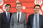 Peter Duchan, Justin Paul & Benj Pasek.attending the Off-Broadway Opening Night Performance of Second Stage Theatre's 'Dogfight' at the Second Stage Theatr in New York City.