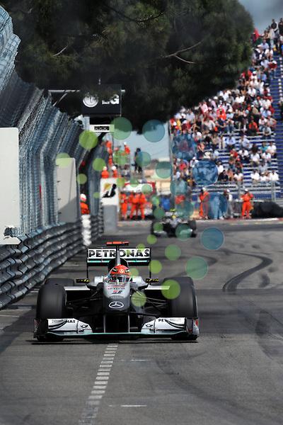 F1 GP of Monaco, Monte Carlo 13.- 15. May 2010.Michael Schumacher (GER), Mercedes GP ..Hasan Bratic;Koblenzerstr.3;56412 Nentershausen;Tel.:0172-2733357;.hb-press-agency@t-online.de;http://www.uptodate-bildagentur.de;.Veroeffentlichung gem. AGB - Stand 09.2006; Foto ist Honorarpflichtig zzgl. 7% Ust.;Hasan Bratic,Koblenzerstr.3,Postfach 1117,56412 Nentershausen; Steuer-Nr.: 30 807 6032 6;Finanzamt Montabaur;  Nassauische Sparkasse Nentershausen; Konto 828017896, BLZ 510 500 15;SWIFT-BIC: NASS DE 55;IBAN: DE69 5105 0015 0828 0178 96; Belegexemplar erforderlich!..