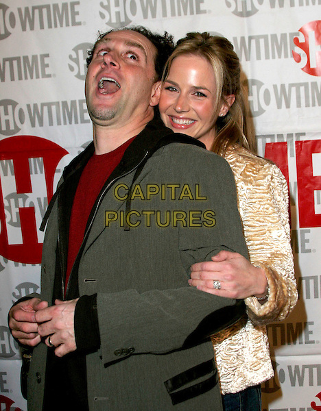 JOHN KASSIR & JULIE BENZ.The Showtime Winter TCA Party held at Universal Studios, Universal City, California, USA, 12 January 2005..half length married husband wife funny.Ref: ADM.www.capitalpictures.com.sales@capitalpictures.com.©Jacqui Wong/AdMedia/Capital Pictures .
