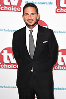 Frank Lampard<br /> arriving for the TV Choice Awards 2017 at The Dorchester Hotel, London. <br /> <br /> <br /> &copy;Ash Knotek  D3303  04/09/2017