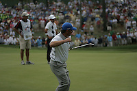Graeme McDowell celebrates his birdie putt on the 8th during the opening fourball at the 37th Ryder Cup at Valhalla Golf Club, Louisville, Kentucky, USA - 19th September 2008 (Photo by John Hetherton/GOLFFILE)