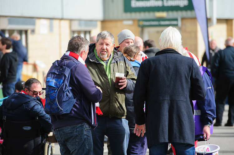 Lincoln City fans enjoy the pre-match atmosphere<br /> <br /> Photographer Chris Vaughan/CameraSport<br /> <br /> The EFL Sky Bet League One - Lincoln City v Sunderland - Saturday 5th October 2019 - Sincil Bank - Lincoln<br /> <br /> World Copyright © 2019 CameraSport. All rights reserved. 43 Linden Ave. Countesthorpe. Leicester. England. LE8 5PG - Tel: +44 (0) 116 277 4147 - admin@camerasport.com - www.camerasport.com