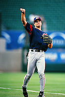 Russell Branyan of the Cleveland Indians during a game against the Anaheim Angels at Angel Stadium circa 1999 in Anaheim, California. (Larry Goren/Four Seam Images)