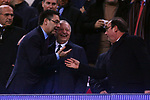 UEFA Champions League 2018/2019.<br /> Round of 16 2nd leg.<br /> FC Barcelona vs Olympique Lyonnais: 5-1.<br /> Josep M. Bertomeu, Jean-Michel Aulas & Francois Hollande