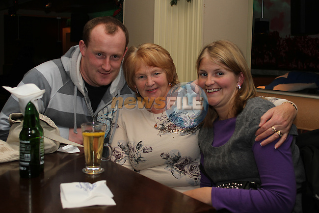 Mick Sullivan, Doreen Gary and Donna Gary on Christmas Eve in Barroco. ..(Photo credit should read Jenny Matthews www.newsfile.ie)....This Picture has been sent you under the conditions enclosed by:.Newsfile Ltd..The Studio,.Millmount Abbey,.Drogheda,.Co Meath..Ireland..Tel: +353(0)41-9871240.Fax: +353(0)41-9871260.GSM: +353(0)86-2500958.email: pictures@newsfile.ie.www.newsfile.ie.