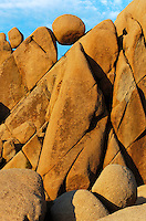 Abstract creations of sandstone boulders at the Joshua Tree Natural Monument in Southern California.