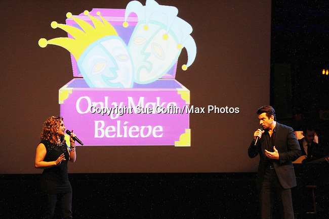 Orfeh and husband Andy Karl perform - Only Make Believe on Broadway - 14th Annual Gala - on November 4, 2013 hosted by Sir Ian McKellen honoring Susan Sarandon in New York City, New York.  (Photo by Sue Coflin/Max Photos)