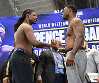 DALLAS, TX - MARCH 15: Charles Martin and Gregory Corbin attend the weigh-in for the Fox Sports PBC Pay-Per-View World Welterweight Championship fight at AT&T Stadium on March 15, 2019 in Dallas, Texas. The fight is on March 16 at 9PM ET/6PM PT. (Photo by Frank Micelotta/Fox Sports/PictureGroup)