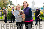 Leah McMahon and Sinead O'Shea from Killarney pictured with Max McMahon (dog) at the Animals Blessing in the Franciscans Friary Church, Killarney last Sunday.