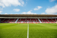 Interior view of St Mary's stadium prior to the Premier League match between Southampton and Swansea City  at St Mary's Stadium in Southampton, England, UK. Saturday 17 September 2016