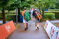 Hilversum, Netherlands, August 8, 2018, National Junior Championships, NJK, on the way to the court<br /> Photo: Tennisimages/Henk Koster