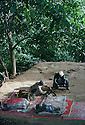 Iraq 1985.In a base of the Iraqi communists in the Kurdish liberated area of Lolan, two men cleaning weapons.Irak 1985.Dans une base du parti communiste, dans la zone de Lolan liberee par les Kurdes, deux hommes nettoyant leurs armes
