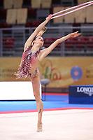 September 10, 2018 - Sofia, Bulgaria - MELINA BALDASSARRI of Italy performs hoop routine at 2018 World Championships.
