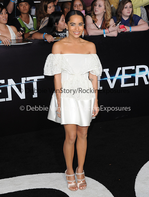 Zoe Kravitz attends The L.A. Premiere of DIVERGENT held at The Regency Bruin Theatre in West Hollywood, California on March 18,2014                                                                               © 2014 Hollywood Press Agency
