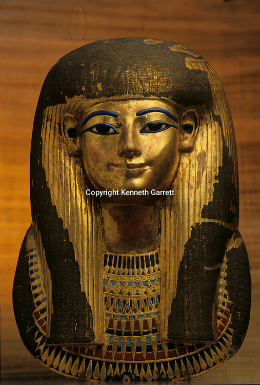 Funerary Mask; Gold; Tjuya; KV 46; Valley of the Kings; reign of Amenhotep IIITutankhamun and the Golden Age of the Pharaohs, Page 128