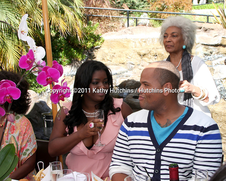 LOS ANGELES - AUG 20:  Julia Pace Mitchell, Nichelle Nichols, Stephen Hightower at the Julia Pace Mitchell Bridal Shower at the W Hotel - Westwood on August 20, 2011 in Westwood, CA