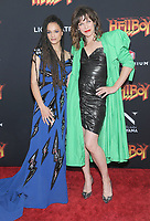 NEW YORK, NEW YORK - APRIL 09: Sasha Lane and Milla Jovovich attends the 'Hellboy' New York Screening at AMC Lincoln Square Theater on April 09, 2019 in New York City.  <br /> CAP/MPI/JP<br /> ©JP/MPI/Capital Pictures