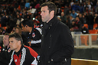 D.C. United Head Coach Ben Olsen. Sporting Kansas City defeated D.C. United  1-0 at RFK Stadium, Saturday March 10, 2012.