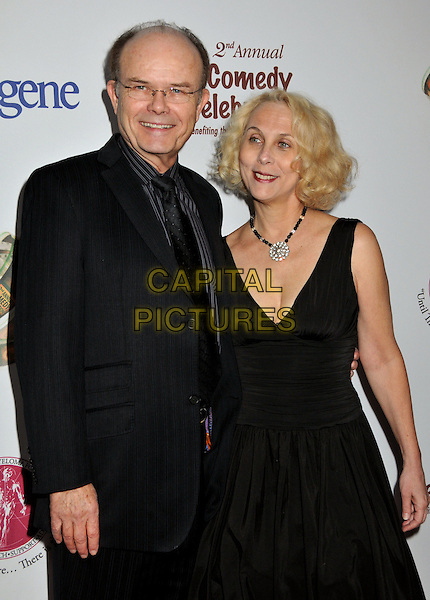 KURTWOOD SMITH & WIFE JOAN .2nd Annual Peter Boyle Comedy Celebration at the Wilshire Ebell Theatre, Los Angeles, CA, USA, .15 November 2008 .half length black dress suit glasses  .CAP/ADM/BP.©Byron Purvis/Admedia/Capital PIctures
