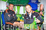 Star Shoes: Darren O'Sullivan fits Kieran Donaghy a pair of Kerry Wellies during the opening of the Kerry GAA shop on Saturday