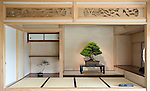 Photo shows the shin style of zashiki, the most prestigious style of Japanese room, at the Saitama Omiya Bonsai Museum of Art in Saitama, Japan on 15 Aug. 2011..Photographer: Robert Gilhooly