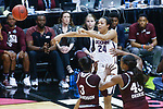DALLAS, TX - MARCH 31: Napheesa Collier #24 of the Connecticut Huskies attempts a pass over Breanna Richardson #3 of the Mississippi State Lady Bulldogs and Chinwe Okorie #45 of the Mississippi State Lady Bulldogs during the 2017 Women's Final Four at American Airlines Center on March 31, 2017 in Dallas, Texas. (Photo by Tim Nwachukwu/NCAA Photos via Getty Images)