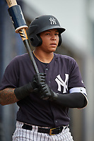 New York Yankees Nelson Gomez (34) during a Minor League Spring Training game against the Atlanta Braves on March 12, 2019 at New York Yankees Minor League Complex in Tampa, Florida.  (Mike Janes/Four Seam Images)