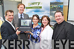 Pictured at the official launch of the gokerry.ie website on Friday in IT Tralee, from left: Stewart Stephens (GoKerry), Arthur Spring (GoKerry), Mary Rose Stafford (GoKerry), Caroline Boland (GoKerry) and Stephen O?Sullivan (Splash)..