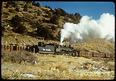 D&amp;RGW #486 K-36 and gondolas on siding.<br /> D&amp;RGW  Monarch Branch, CO