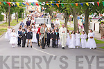 PROCESSION: The St Brendan's Church Corpus Christi Procession going through St Brendan's Park on Sunday.