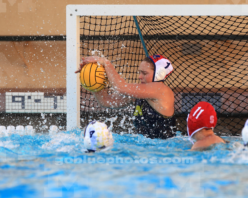 The University of Michigan women's water polo team lost to No. 1 Stanford, 11-2, at Avery Aquatic Center in Palo Alto, Calif., on January 25, 2012.