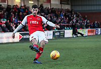 Fleetwood Town's Ched Evans crosses  <br /> <br /> Photographer Andrew Kearns/CameraSport<br /> <br /> The EFL Sky Bet League One - Fleetwood Town v Charlton Athletic - Saturday 2nd February 2019 - Highbury Stadium - Fleetwood<br /> <br /> World Copyright © 2019 CameraSport. All rights reserved. 43 Linden Ave. Countesthorpe. Leicester. England. LE8 5PG - Tel: +44 (0) 116 277 4147 - admin@camerasport.com - www.camerasport.com