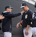 (L-R) Joe Girardi, Masahiro Tanaka (Yankees),<br /> FEBRUARY 18, 2014 - MLB :<br /> New York Yankees spring training camp in Tampa, Florida, United States. (Photo by AFLO)