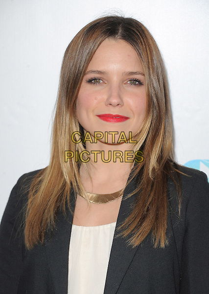 Sophia Bush.World Premiere of 'Magic Mike' and Closing Night of Los Angeles Film Festival held at   The Regal Cinemas L.A. LIVE Stadium 14 in Los Angeles, California, USA..June 24th, 2012.LAFF headshot portrait red lipstick black blazer white top gold necklace .CAP/RKE/DVS.©DVS/RockinExposures/Capital Pictures.