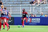 Boyds, MD - Sunday July 31, 2016: Cheyna Williams during a regular season National Women's Soccer League (NWSL) match between the Washington Spirit and Sky Blue FC at Maureen Hendricks Field, Maryland SoccerPlex. The Washington Spirit defeated Sky Blue FC 3-1.