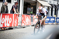 European Time Trial Champion Victor Campenaerts (BEL/Lotto Soudal) with a final effort towards the finish. He will eventually end up in third place. <br /> <br /> Baloise Belgium Tour 2019<br /> Stage 3: ITT Grimbergen – Grimbergen 9.2km<br /> ©kramon