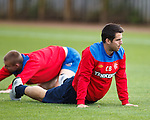 Carlos Bocanegra having a stretch