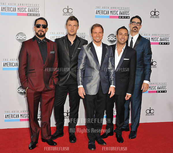 Back Street Boys at the 40th Anniversary American Music Awards at the Nokia Theatre LA Live..November 18, 2012  Los Angeles, CA.Picture: Paul Smith / Featureflash
