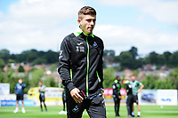 Declan John of Swansea City arrives for the during the pre season friendly match between Exeter City and Swansea City at St James Park in Exeter, England, UK. Saturday, 20 July 2019