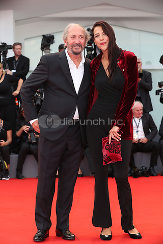 Giuseppe Piccioni and a guest arriveat  the Award Ceremony of the 74th Venice Film Festival at Sala Grande on September 9, 2017 in Venice, Italy. <br /> CAP/GOL<br /> &copy;GOL/Capital Pictures /MediaPunch ***NORTH AND SOUTH AMERICAS ONLY***