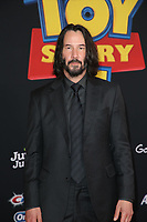 "LOS ANGELES, CALIFORNIA - JUNE 11: Keanu Reeves attends the premiere of Disney and Pixar's ""Toy Story 4"" on June 11, 2019 in Los Angeles, California.  <br /> CAP/MPIFS<br /> ©MPIFS/Capital Pictures"