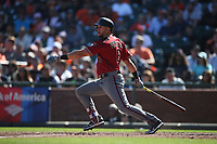 SAN FRANCISCO, CA - SEPTEMBER 17: David Peralta #6 of the Arizona Diamondbacks bats against the San Francisco Giants during the game at AT&T Park on Sunday, September 17, 2017 in San Francisco, California. (Photo by Brad Mangin)