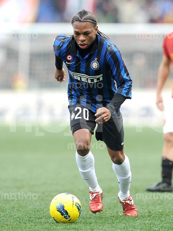FUSSBALL INTERNATIONAL   SERIE A   SAISON 2011/2012    AS Rom - Inter Mailand  05.01.2012 Joel Chukwuma Obi (Inter Mailand)