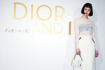 """Dior and I"" Movie Special Talk Show on March 12, 2015, Tokyo, Japan. Model Yuka Mizuhara wearing fashion brand Dior Spring-Summer 2015 Collection poses for the cameras during the special talk of the movie ""Dior & I"" at Bunkamura theater in Shibuya. The movie hits the theaters across Japan on March 14. (Photo by Rodrigo Reyes Marin/AFLO)"
