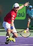 March 31 2016: Kei Nishikori (JPN) defeats Gael Monfils (FRA) by 4-6, 6-3, 7-6, at the Miami Open being played at Crandon Park Tennis Center in Miami, Key Biscayne, Florida. ©Karla Kinne/Tennisclix/Cal Sports Media