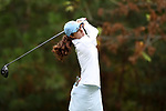 CHAPEL HILL, NC - OCTOBER 14: North Carolina's Mariana Ocano on the 3rd tee. The second round of the Ruth's Chris Tar Heel Invitational Women's Golf Tournament was held on October 14, 2017, at the UNC Finley Golf Course in Chapel Hill, NC.