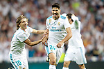 Real Madrid's Marco Asensio (c), Luka Modric (l) and Mateo Kovacic celebrate goal during Supercup of Spain 2nd match. August 16,2017. (ALTERPHOTOS/Acero)