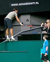 11-02-14, Netherlands,Rotterdam,Ahoy, ABNAMROWTT,Michael Berrer(DUI)<br /> Photo:Tennisimages/Henk Koster