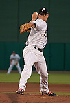 Reno Aces starter Zach Kronenke throws agianst the Colorado Sky Sox during their game on Friday night July 27, 2012 at Aces Ballpark in Reno, NV.